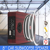 8'' inch Car Subwoofer Under-Seat Speaker Audio Power Amplifier Super Bass Amp