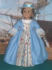 "American Girl 18"" Doll Blue Outlander Claire Jamaica Dress and Accessories"