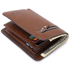 Men's Leather Bifold ID Credit Card Holder Wallet Coin Pocket Purse Billfold