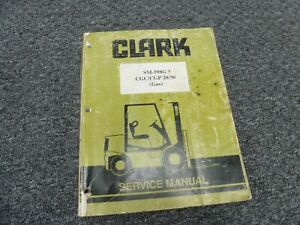 Clark CGC20 CGC30 Genesis Series Gas Forklift Lift Truck Service Repair Manual