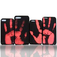 Novelty Color Change Heat Sensitive Case Cover For iPhone 7 8 Samsung S8 S9 Plus