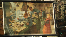 Lehrtafel, alter Farbdruck um 1900