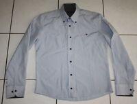 Tommy Hilfiger Hemd Gr. S Sweatshirt Herren Blau Business Poloshirt Hemden Edel
