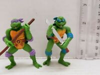 Lot Of 2 TMNT Teenage Mutant Ninja Turtles Figures Turtles Dontello Leonardo