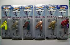 BLUE FOX SPINNER LOT OF 6 TROUT SUPER VIBRAX STEELHEAD VMC HOOKS & SIWASH 1/4