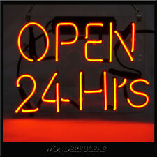 OPEN 24Hrs Retro Neon Sign Beer Bar Pub Store Display Decor Handmade Custom Sign
