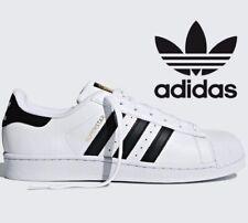⚫ 2020 Adidas Originals Superstar ® ( Men UK Sizes 7.5 & 12 ) White / Black Gold