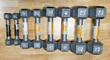CAP Cast Iron Hex Dumbbell (Pair) - Select Weight 2lb 5lb 8lb 12lb