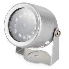 Infrarot Kamera mit 12 IR LEDs + Sensor, Nachtsicht, Color CCD, Wassergeschützt