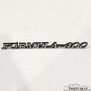 72-75 Original GM Firebird Formula 400 Front Fender Emblem OEM Pontiac