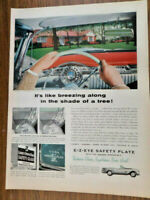 1954 E-Z Eye Safety Plate Ad  Experimental  F-88 Oldsmobile