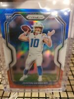 Justin Herbert Prizm Red White Blue Rookie Card 2020 NFL Los Angeles Chargers