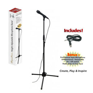 """Spectrum Tablet Stand and Microphone Fits most 7""""-10"""" Tablets Adjustable Height"""