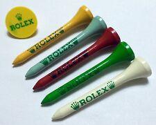 Rolex in legno Golf Tee & Marker Holder Set Kit 6263 1016 1675 6265 5513 1680 OEM
