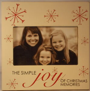 The Simple Joy of Christmas Memories snowflake 4 inch x 6 inch Photo Frame MDF