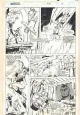 Avengers #370 p.14 - Dragona saves a Child from the Flame art by Geof Isherwood