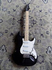 Silvertone electric guitar strat style GLOSS BLACK FINISH (pickups sound GREAT)
