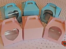 10 or more Premium Single Cupcake Boxes - 💞 Pale Pink 💞 & Blue **STAR BUY**