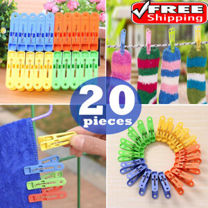 20pcs Clothe Clips Clothing Hanger Pegs Clips Clothes Pins Laundry Hanging Clip