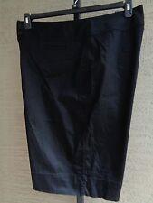 Madison Cotton & Spandex  Bermuda Shorts 24W Black  msrp $38.