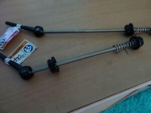 Fahrrad Schnellspanner Schnellverschluss für Hinterradnabe 135mm Silber