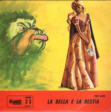 ennegi LA BELLA E LA BESTIA 45GIRI fiaba sonora