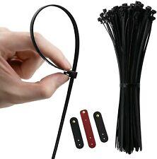 "Releasable Zip Ties,Reusable Multi-Purpose Cable Ties 12"" Gear Tie Wraps,100 Pcs"