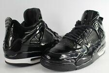 size 40 37bd9 e5cb9 Nike Air Jordan Retro 4 11Lab4 Patent Leather Black White Size 11.5  719864-010