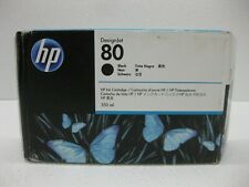 HP 80 Black Ink C4871A Genuine 350ML ** SHIPS OVERBOXED ** Date: March 2020