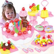 1Set DIY pretend play fruit cutting birthday cake kitchen toy for children gi_ti