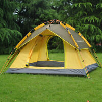 Family Camping Tent 2-3 Person 3 Usages Double Layer Waterproof Sun Shelter Used