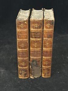 1875 Works of Schiller 3 Volumes Bohn's Standard Library Bowring Trans.