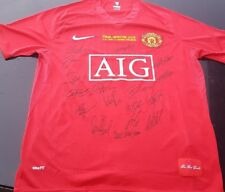MANCHESTER UNITED 2008 CHAMPIONS LEAGUE WINNERS SIGNED JERSEY + COA