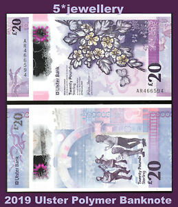 2019 Ulster Bank ltd belfast £20 banknote N Ireland new Polymer money currency