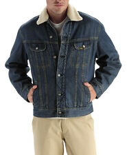NWT LEE Men's Fleece Lined Winter Warm Coat Trucker Denim/Jean Jacket M L XL XXL