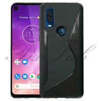 For Motorola Moto One Vision Slim Black Silicone Shockproof Gel Phone Case Cover