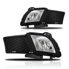 For 2010-2012 KIA Forte Clear Lens Chrome Housing Replacement Fog Light Lamp