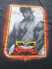 Capcom Street Fighter 5 Video Game Black Orange Yellow T Shirt Size M Medium