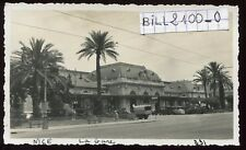 NICE. Alpes-Maritimes . la gare .  photo ancienne . 1934