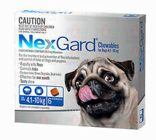 Nexgard BLUE for Small Dogs 4.1kg to 10kg Oral Chews for Fleas & Ticks - 6 PACK