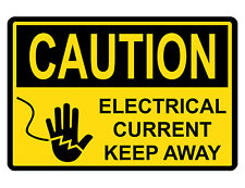Caution Electrical Sign Custom Metal Sign Durable Aluminum No Rust safety Dd#272