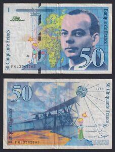 France 50 Francs Saint-Exupéry 1994 BB / VF A-02