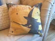 Halloween Pillow October 31 Black Witch