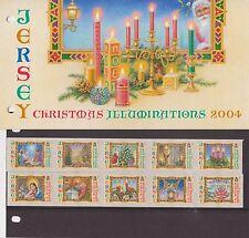 JERSEY PRESENTATION PACK 2004 CHRISTMAS ILLUMINATIONS STAMP SET 10% OFF 5+