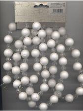 Guirlande boules polystyrènes brillantes et perles Noël Soirée blanche 31191084