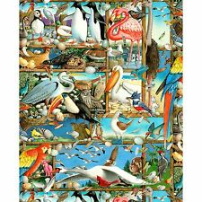 Fabric Bird Watching Menagerie Tropical Full Cotton by the 1/4 yard Elizabeth