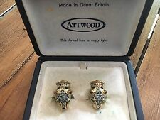 Attwood And Sawyer panther Earrings 1970's
