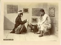 Tunisie, Ecrivain Public  Vintage albumen print. Vintage Turkey.  Tirage album