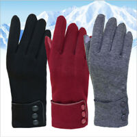 Womens Fashion Wrist Winter Autumn Warm Gloves Touch Screen Solid Color NEW