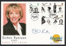 Esther Rantzen TV Presenter Journalist Signed Autograph 1996 Stamp Cover
